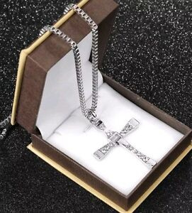 SILVER CROSS CHAIN ( PRICE REDUCED )