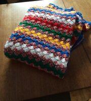 couverture en laine vintage fait main lit simple