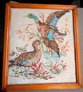 Canards en Petits Points de Croix Antique