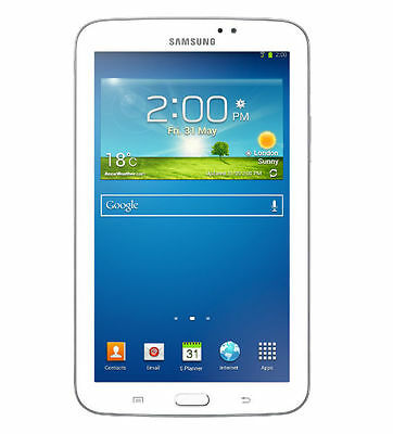 "Samsung Galaxy Tab 3 8GB WiFi 7"" HD Display Android Tablet PC White SM-T210"