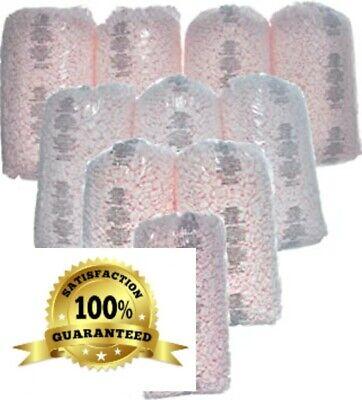 350 Cft Packing Peanuts 10 X 3.5 Cu Ft Bags Pink Anti Static Popcorn Fill 260 G