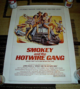 RARE 1979 SMOKEY and the HOTWIRE GANG VIDEO POSTER