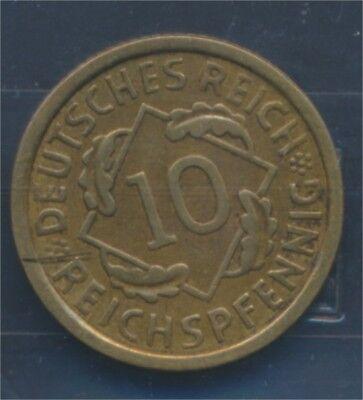 Deutsches Reich Jägernr: 317 1932 E sehr schön 1932 10 Reichspfennig (7879658