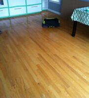 Oak hardwood flooring - used