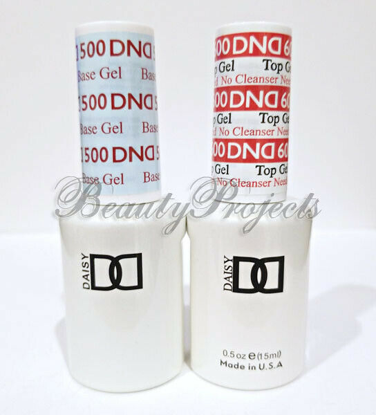 DND Daisy Soak Off Gel Polish Top Coat 600 & Base Coat 500 L