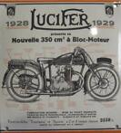 Lucifer 1929 Emaille bord