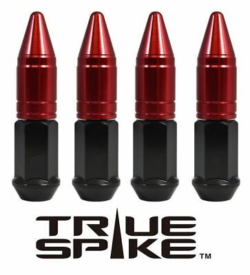 20 TRUE SPIKE 86MM 14X2.0 FORGED STEEL LUG NUTS RED EXTENDED APOLLO SPIKES B