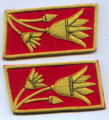 Anwar Sadat Egypt Uniform Collar Tabs President Army Officer War Revolution East