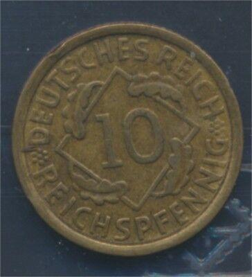 Deutsches Reich Jägernr: 317 1932 E sehr schön 1932 10 Reichspfennig (7879660