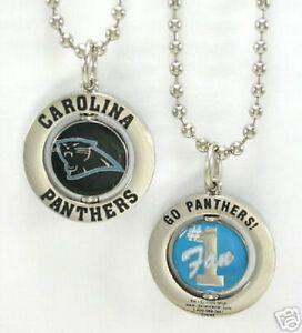 carolina panthers logo 1 fan spinner charm necklace nfl. Black Bedroom Furniture Sets. Home Design Ideas