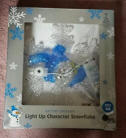 Brand New Light Up Character Snowflake.