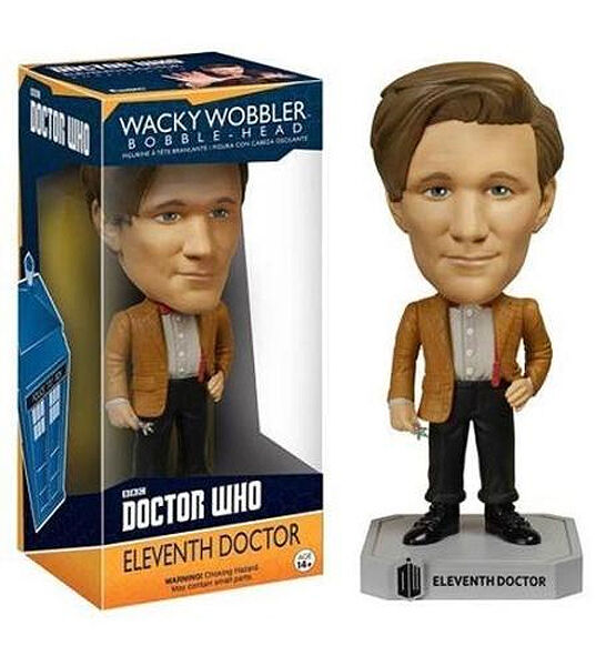 NEW 11th Dr Doctor Who Matt Smith Wacky Wobbler / BobbleHead Funko 4635
