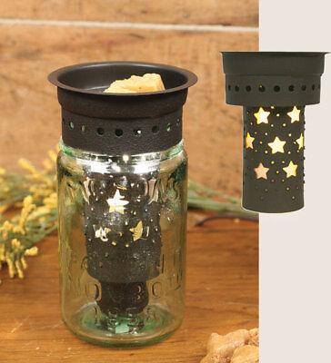 Rustic Replia VIntage Pint Mason 1858 Jar  Wax Tart Potpourri Warmer  Barn Star (Star Potpourri)