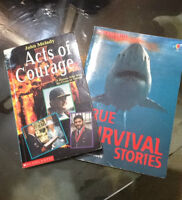 2 books, 'Acts of Courage' and  'True Survival Stories'