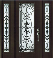 Wrought iron insert GLASS doors & Railings