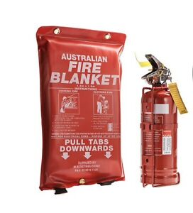 Item 1: 1kg Dry ChemFire extinguisher and Fire Blanket 1 meter X 1 meter