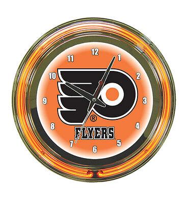 Nhl Neon Clock (NHL Philadelphia Flyers 2 Ringer Neon Wall Clock -)