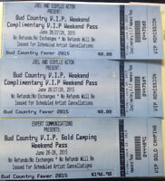 BudCountry VIP Weekend & Gold Camping