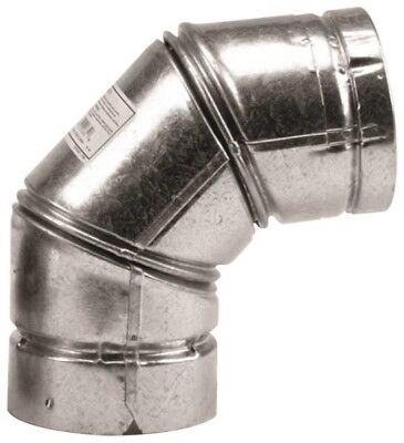 """Selkirk 243231/243230 Type L Vent Stove Pipe Elbow, 3"""", Galvanized"""