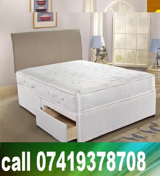 New DoubleKing Size Base base with Beddingin Heathrow, LondonGumtree - MID FEB OFFER.~.~.Available at Half of the Orignal Price.~.~. We Deal in all sizes of Divan ,Leather Beds.~.~.Other Furnitures sofabeds, wardrobe, sofa available also.~.~.Brand New Delivery Same day Contact Us