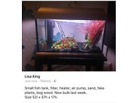 Small fish tank/ aquarium
