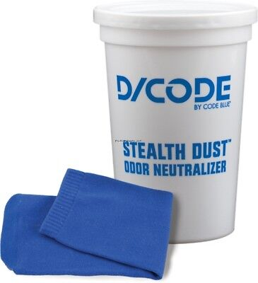 New Code Blue D/Code Stealth Dust Hunting Clothing Odor Neutralizer 4oz OA1371  - Blue Code Clothing