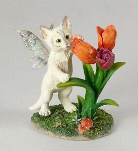 Faerie Tails Figur - Katze Blossom mit Flügeln - Faerie Glen Elfe Fee