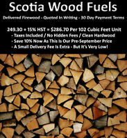 * DELIVERED FIREWOOD - 30 DAY PAYMENT TERMS & QUOTED IN WRITING