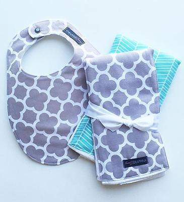 Burp Cloth Sweet - New Sweet Seraphina Bib and Burp Cloth Set