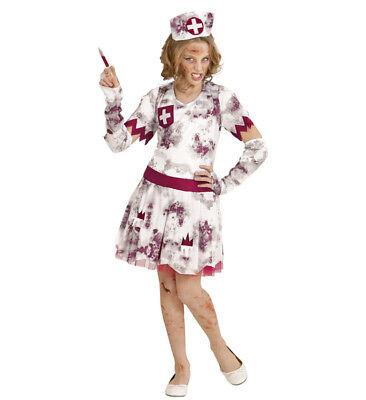Girls Kids Childs Zombie Nurse Halloween Fancy Dress Costume Outfit 5-13 Yrs - Kids Nurse Outfit