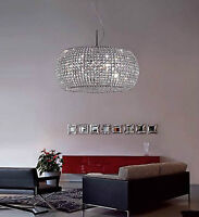 Modern k9 Crystal Chandelier with Clear Square Hand Cut Crystal