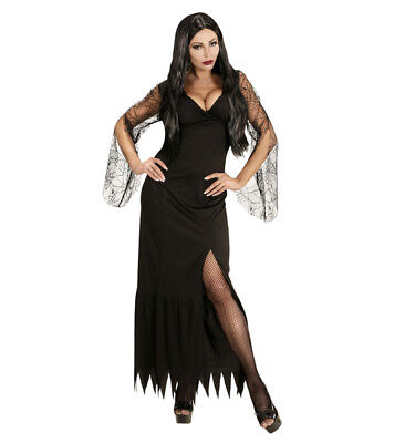 Womens Ladies Morticia Gothic Fancy Dress Costume Halloween Outfit - Morticia Outfit