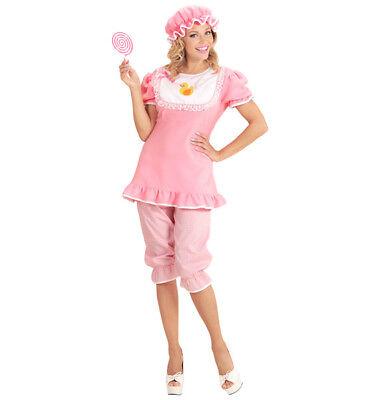 Womens Ladies Pink Big Baby Girl Fancy Dress Costume Hen Do Outfit - Big Girls Kostüm