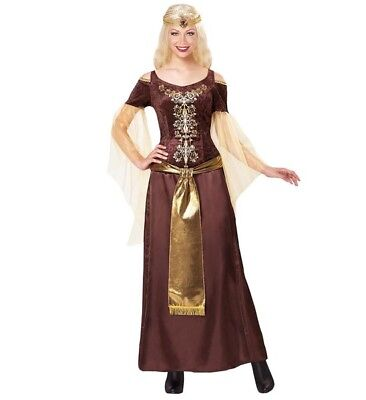 Viking Woman Outfit (Womens Ladies Viking Lady Fancy Dress Costume Vikings Outfit)