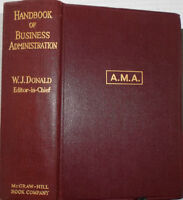 HANDBOOK OF BUSINESS ADMINISTRATION, 1st ed., 1931 !!!