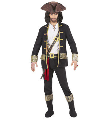 Mens Male Adult Pirate Captain Black Halloween Fancy Dress Costume Outfit](Male Pirate Outfit)