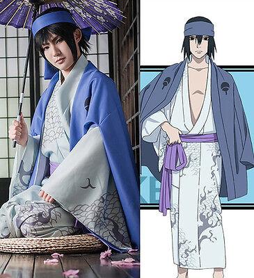 NARUTO Uchiha Sasuke Kimono Yukata Kostüm Cosplay Costume Anime Manga Comics - Naruto Sasuke Uchiha Cosplay Kostüm