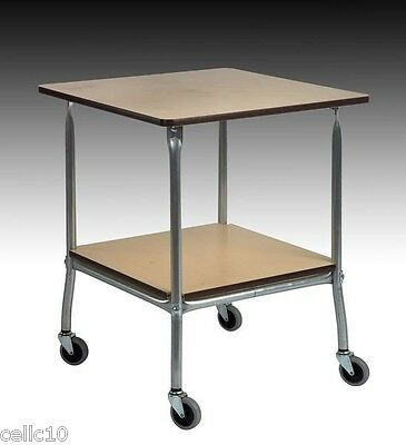 High Quality Steel Service Cart With Hardboard Top - Made In The Usa Ez45 Ez-45