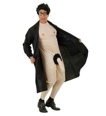 Old Man Flasher Costume (FLASHER MAN FANCY DRESS COSTUME DIRTY OLD MAN COAT AND JUMPSUIT STAG)