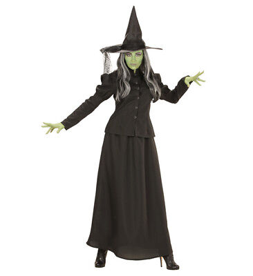 Womens Ladies Old Time Witch Halloween Fancy Dress Costume Outfit - Old Time Kostüm