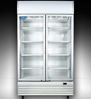 Igloo 2 Doors 1000l Commercial Drink Glass Display Fridge 1107021cm Led Light