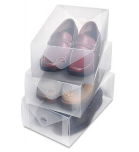 Men's Clear Plastic Shoe Storage Box - Protects shoes from dust and moisture