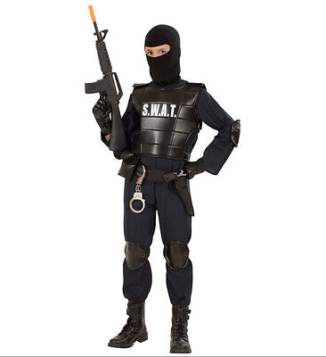 S.W.A.T. SWAT OFFICER POLICE CHILDS FANCY DRESS COSTUME COMMANDO KIDS BOYS COP