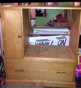 Solid wood TV unit FREE Peterborough Peterborough Area image 1
