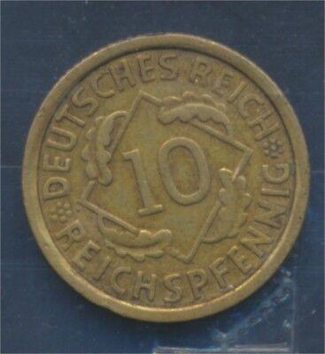 Deutsches Reich Jägernr: 317 1933 J sehr schön 1933 10 Reichspfennig (7879699
