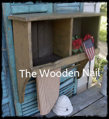 Primitive Grungy Prairie Cubby Shelf Cupboard Pattern/Plan WN154