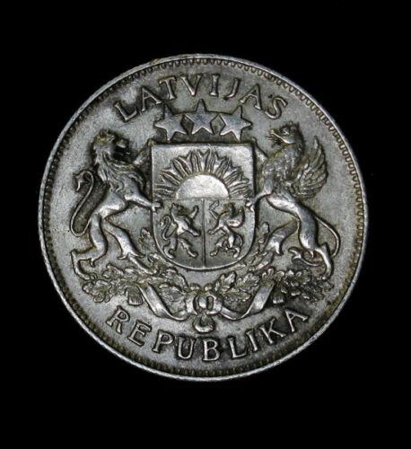 1926 Latvia 2 Lati KM# 8 Silver Coin High Grade