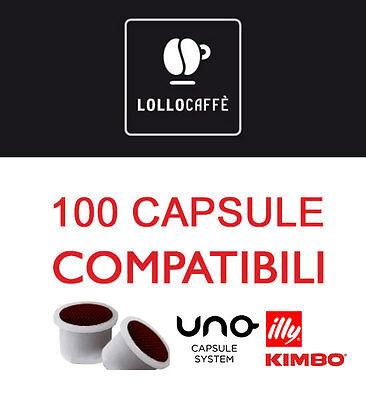 100 CIALDE CAPSULE CAFFE LOLLO COMP UNO SYSTEM INDESIT KIMBO ILLY ESPRESSO KAP