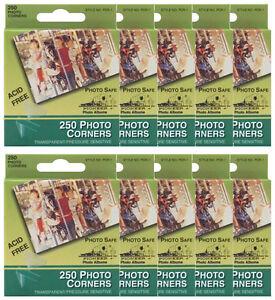 BULK-10-of-Pioneer-Photo-Corners-Clear-Self-Adhesive-250-box