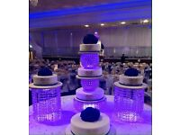 Chandelier Style Crystal Dome Cake Stands / separator